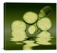 Cool as a Cucumber Slices, Canvas Print