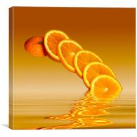 Slices Orange Citrus Fruit, Canvas Print