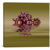 Krissy Gold Grapes to wine, Canvas Print