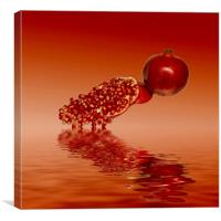 Pomegranate superfood fruit, Canvas Print