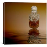 Brandy Decanter Glass, Canvas Print