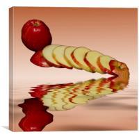Juicy Red Apples, Canvas Print