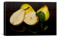 Fresh Pears Fruit, Canvas Print