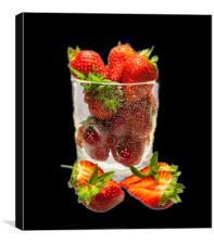 Strawberry Dessert, Canvas Print