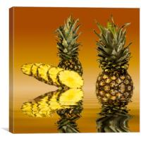 Fresh ripe pineapple fruits, Canvas Print
