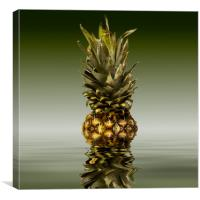 Fresh ripe pineapple fruits, Canvas Print