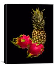 Pineapple and Dragon Fruit, Canvas Print