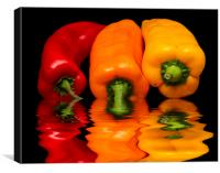 Peppers Red Yellow Orange, Canvas Print