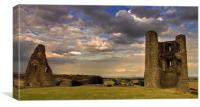 Hadleigh Castle storm clouds, Canvas Print
