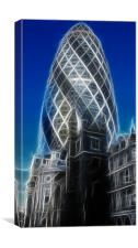 The Gherkin Tower, Canvas Print