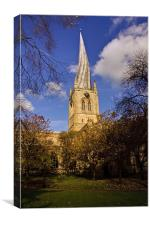 St Marys Parish Church crooked spire Chesterfield, Canvas Print