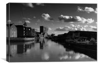 Barking Creek  River Roding, Canvas Print
