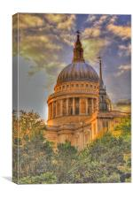 St Pauls Cathedral HDR version, Canvas Print