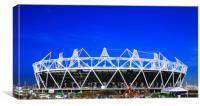 2012 Olympics stadium fractals, Canvas Print