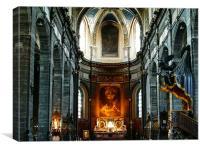 Church interior fractals, Canvas Print
