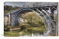 Ironbridge over the River Severn, Canvas Print