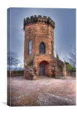 St Louis Tower Shrewsbury Regiment Castle, Canvas Print