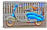 Vespa Scooter HDR, Canvas Print