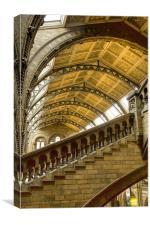 Natural History Museum Kensington fractals, Canvas Print