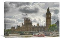 Houses of Parliament and Big Ben, Canvas Print