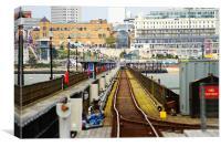 Southend Pier train, Canvas Print