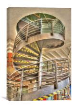 Spiral stair case hdr, Canvas Print
