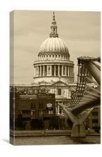 St Pauls Cathedral London, Canvas Print
