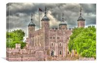The Tower of London HDR, Canvas Print