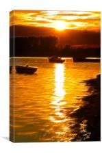 Christchurch Sunset Fractals, Canvas Print