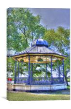 Band Stand hdr, Canvas Print
