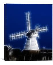 Windmill Fractals, Canvas Print