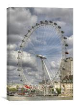 London Eye HDR, Canvas Print