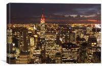 New York City at Night , Canvas Print