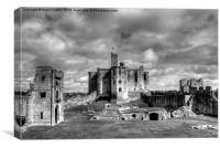 Warkworth Castle, Northumberland, Canvas Print