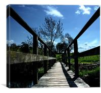 Old Wooden Bridge, Canvas Print
