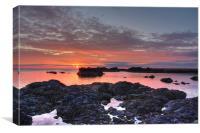 Sunrise at St Abbs, Canvas Print