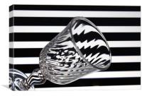 Glass and Stripes, Canvas Print