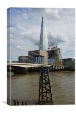 The Shard and the Thames, Canvas Print