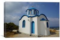 Little Greek Church, Canvas Print