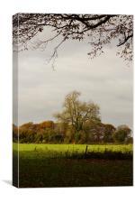 English Autumn View, Canvas Print