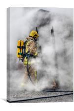 Firefighter, Canvas Print