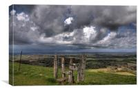 Ditchling Beacon Storm, Canvas Print