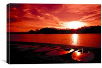 Red Sky at Ardingly Reservoiur, Canvas Print