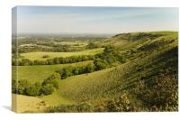 ditchling beacon, Canvas Print
