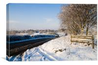 Icy Country Roads, Canvas Print