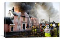 Major Fire in Disused Pub, Canvas Print