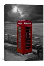 Storm Over Phone Box, Canvas Print