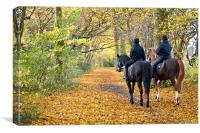 Autumn on Horseback, Canvas Print