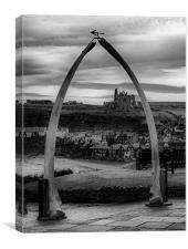 Whitby Whale Bones, Canvas Print