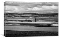 Mono view from Holy Island  - Lindisfarne, Canvas Print
